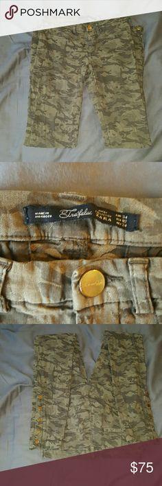 ZARA CAMOFLAUGE 02 EURO 34 DENIM LEGGING JEGGING Great pant! Trafaluc Zara Pants Skinny