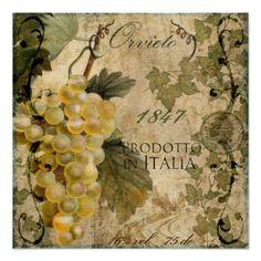 Etiqueta italiana Orvieto del vino del vintage Posters