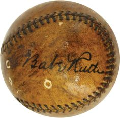 Babe Ruth signed baseball with video of him signing it in 1929 up for auction.