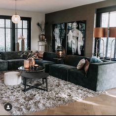 Living Room Decor Cozy, Living Room Windows, Home Living Room, Home Bedroom Design, Living Room Designs, Loft Design, House Design, Old Home Remodel, Rustic Home Design