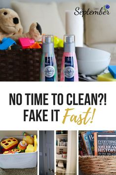 House a mess with little time to clean it? Learn how to clean house fast in under 10 minutes. Your guests will be shocked! Parenting Win, Parenting Hacks, Home Organization Hacks, Organizing Your Home, Toy Storage, Storage Baskets, Spring Cleaning Checklist, Cleaning Hacks, Cleaning Routines