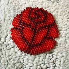 Best 12 Excited to share this item from my shop: Blooming Rose Brick Stitch Beading Pattern – Page 671951206886007734 Bead Embroidery Patterns, Bead Crochet Patterns, Beading Patterns Free, Beaded Bracelet Patterns, Weaving Patterns, Beaded Embroidery, Knitting Patterns, Peyote Bracelet, Free Pattern