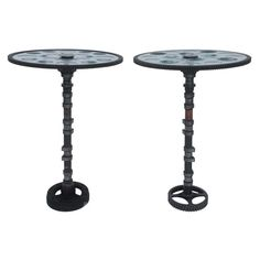 Feliciano Béjar Pair of Small Magiscope End Tables 1