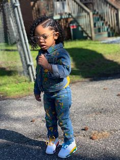Credit to Jakayla Bostic. Cute Mixed Babies, Cute Black Babies, Black Baby Girls, Beautiful Black Babies, Cute Baby Girl, Toddler Girl Style, Toddler Girl Outfits, Baby Girl Dresses, Kids Outfits