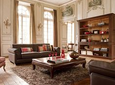 great rooms with brown leather couch - Yahoo! Search Results