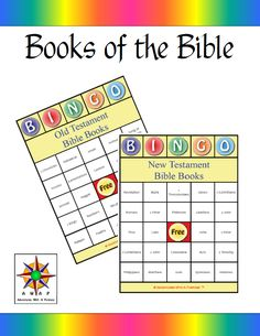 Books of the Bible Bingo - Teach the Books of the Old and New Testaments with this fun Bingo game: The pack includes: Old Testament:* 5 Gam Sunday School Games, Sunday School Lessons, Sunday School Crafts, School Fun, School Songs, Bible Games, Bible Activities, Children's Bible, Church Activities