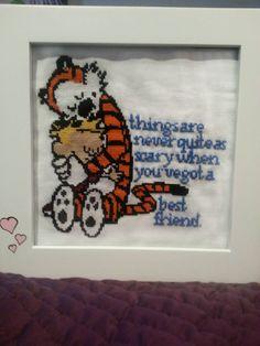 Calvin and Hobbes cross-stitch - Imgur