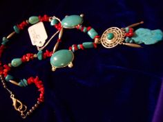 trquoise and coral set