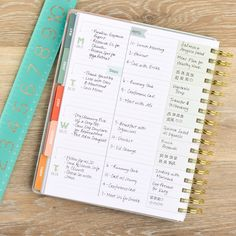 Weekly Planner for Busy Women in Horizontal Layout by inkWELL Press