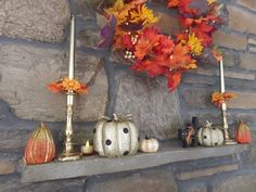 fall decorations for mantle