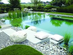 Swimming Pool : Fascinating Swimming Pool With Chic Decor And Natural Design Decoration Ideas Inspiring Natural Swimming Pool Design Ideas Natural Swimming Ponds' Natural Swimming Pool Plans' Natural Swimming Pool Designs along with Swimming Pools Swimming Pool Filters, Swimming Pools Backyard, Swimming Pool Designs, Indoor Pools, Pool Decks, Indoor Outdoor, Big Pools, Small Pools, Small Backyard Landscaping