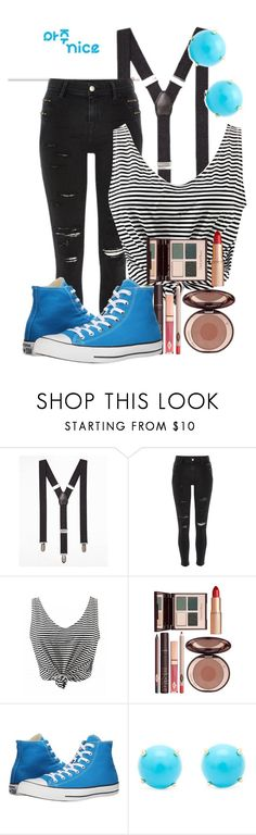 """Very Nice-SEVENTEEN"" by imsobo ❤ liked on Polyvore featuring Express, River Island, Charlotte Tilbury, Converse and Irene Neuwirth"