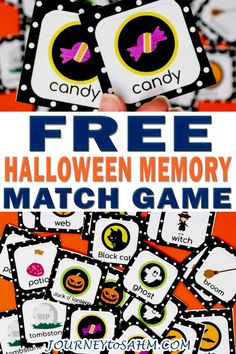 When thinking of classic and traditional growing up, the memory match game is right at the top of the list. That's why I had to put together this fun Halloween memory match game for you this season. The holidays are such a fun time to spend with your kids. Besides the normal pumpkin carving, trick-or-treating, and other Fall-related stuff, you can make anything Halloween related! | Journey to SAHM @journeytosahm #toddlergames #freekidsgames #freefunthingstodo #halloweenactivites… Fun Halloween Games, Halloween Activities For Kids, Halloween Books, Halloween Party Decor, Easy Halloween, Holiday Activities, Halloween 2020, Games To Play With Kids, Games For Toddlers