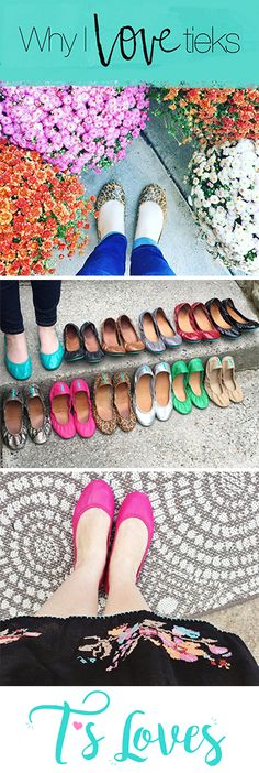Why am I so obsessed with Tieks? First and foremost, Tieks are so comfy, stylish, and cute! With over 60 different styles/colors, there are so many fun options to choose from. The convenience of the foldable, split sole and accompanying pouch make Tieks perfect for travel or just throwing in your purse. Plus, the quality of these shoes is unmatched! Tieks flats are like the Rolls Royce of shoes and they feel so luxurious when wearing them.