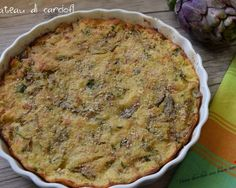 Gateau di carciofi Vegetable Recipes, Vegetarian Recipes, Cooking Recipes, Potato Galette, Focaccia Pizza, Go Veggie, Antipasto, Food Lists, Tasty Dishes