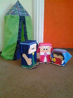 """""""Minha Herança"""": * """"Abraão, Sara e Isaque"""" de caixa de leite"""