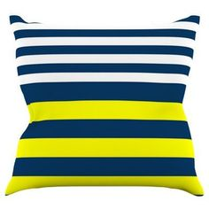 Kess InHouse Trebam Nauticki Indoor / Outdoor Throw Pillow - TK1020AOP02