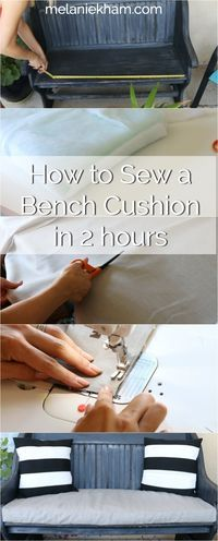 Learn how to sew a washable bench cushion in two hours with this tutorial from Melanie Ham. Whether you're a beginner or experienced sewer, this DIY project will surely be a joy!