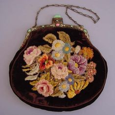 full skirts, antiqu purs, flower bouquets, flower decorations, vintag handbag, vintag purs, purses, antiques, victorian purs