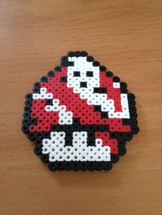 Ghostbusters mushroom perler beads by Perler-Princess on deviantART
