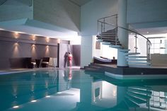 Have a swim in the stunning pool at the Steigenberger Hotel Gstaad Saanen in Gstaad-Saanen...