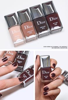 Dior Skyline Nail Polish - Dior Vernis in 112 Minimal - 522 Abstract - 818 Obscure - 848 Skyline