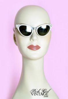 d70afd2faf 1950 s Grey Cat Eye Vintage Sun Glasses  Frames Vintage Clothing Stores