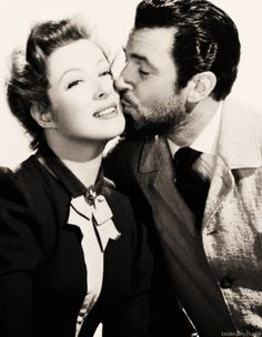 Great on screen couples -  Greer Garson, Walter Pidgeon. The stars made eight films and in seven of them, they played a married couple. Mrs. Miniver (1942), Julia Misbehaves (1948), Blossoms in the Dust (1941, their first); Madame Curie (1943); Mrs. Parkington (1944); That Forsythe Woman (1949); The Miniver Story (1950); and Scandal at Scourie (1953).