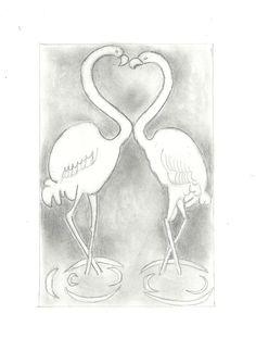 szerelem - hattyúk - grafittal