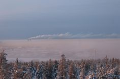 Näkötorni Belvedere, Ounasvaara. Pakkasta -28 astetta.