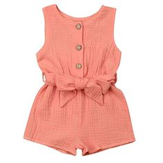 Your baby girl will surely look fabulous with this Coral Bowknot Sleeveless Romper. Shop it today. Source by thetrendytoddlers dresses girl Kids Dress Wear, Dresses Kids Girl, Little Girl Outfits, Little Girl Fashion, Toddler Outfits, Fashion Kids, Kids Outfits, Toddler Fashion, Womens Fashion