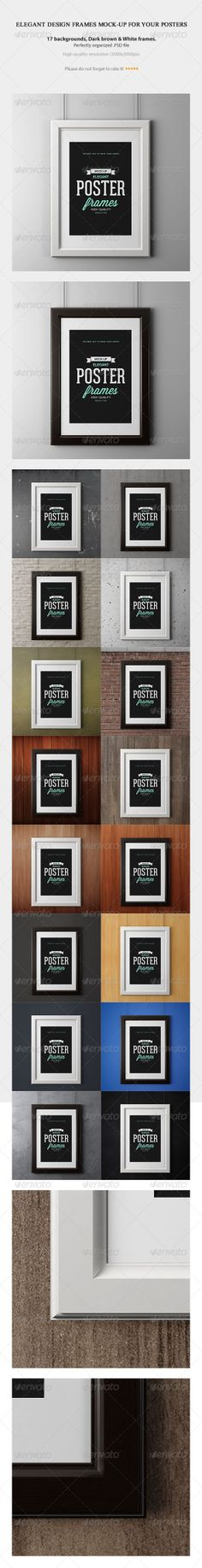 Elegant Design Frames MOCK-UP For Your Posters - Posters Print