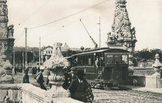 1915. Tranvía a Carabanchel cruzando el puente de Toledo