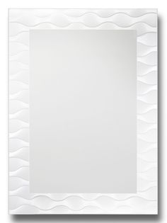 Frosted Wave Decorative Wall Mirror