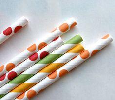 Summer Mix Paper Straws