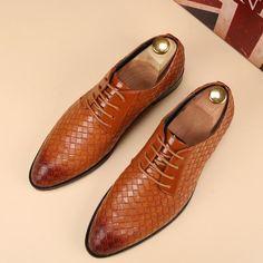 eadec70e1f5 Lace Up Business Leather Casual Shoes