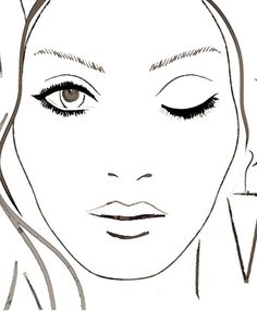 Blank Face Template For Makeup Blank mac face charts