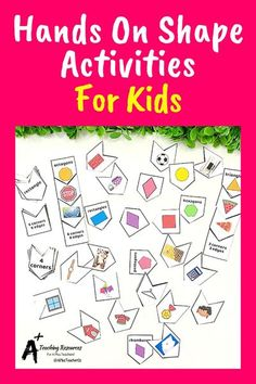 These Hands-on learning activities for teaching children about 2D and 3D shapes and their properties are so much fun and ideal for math centers. Great shape activities, games, puzzles & classroom decor for preschool, kindergarten and first grade kids. #math #2Dshapes