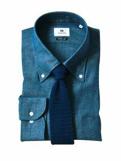 旬のシャンブレーシャツにニットタイがハマる! | メンズファッションの決定版 | MEN'S CLUB(メンズクラブ)