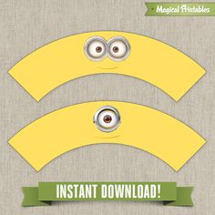 Despicable Me Minions Printable Birthday Cupcake Wrappers - Instant Download!