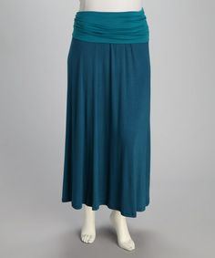 Look what I found on #zulily! Teal Jahna Maxi Skirt - Plus by CANARI #zulilyfinds