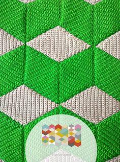 """Mis Pasatiempos Amo el Crochet: Diseños de tejido con cubos en crochet para ver patrón dar clic """"Web"""""""