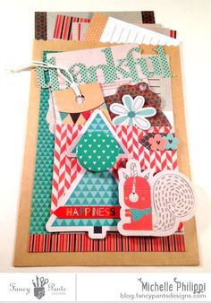 Thankful Pockets by Michelle Philippi using the True Friend Collection by FancyPantsDesigns.com