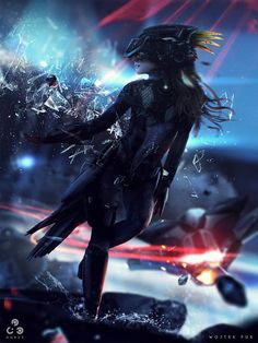 Superb fantasy and sci-fi themed digital art by the excellent Wojtek Fus, a concept artist and digital illustrator working in the entertainment industry. Cyberpunk 2077, Cyberpunk Kunst, Zbrush, Game Art, Science Fiction, Post Apocalyptic Fashion, Sci Fi Characters, Cg Art, Shadowrun