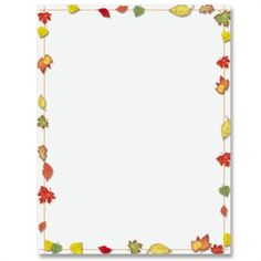 Simply Fall PaperFrames Border Papers   PaperDirect
