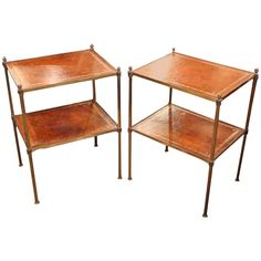 Pair of Trolleys | From a unique collection of antique and modern side tables at https://www.1stdibs.com/furniture/tables/side-tables/