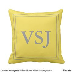 Rest your head on one of Zazzle's Yellow decorative & custom throw pillows. Yellow Throw Pillows, Decorative Throw Pillows, Monogram, Home Decor, Yellow Pillows, Yellow Cushions, Accent Pillows, Interior Design, Home Interior Design