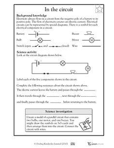 Parts of an electrical circuit diagram - Worksheets & Activities   GreatSchools