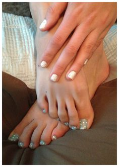 Cute toe and finger nails that I did! Polka dot fun!