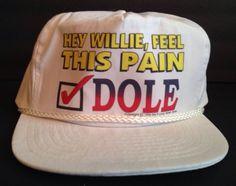 Bob Dole Presidential Campaign Hat 1996 - Dole & Kemp VS Bill Clinton & Al Gore #BobDole #BillClinton